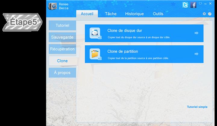 Cloner le disque dur/la partition