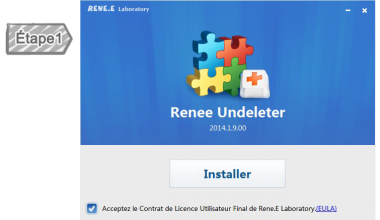 Installer Renee Undeleter