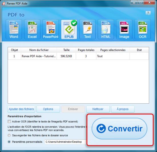Renee PDF Aide-Convertisseur PDF gratuit pour convertir PDF en Epub