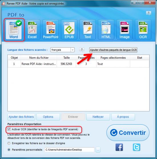 Renee PDF Aide-OCR gratuit pour extraire le texte