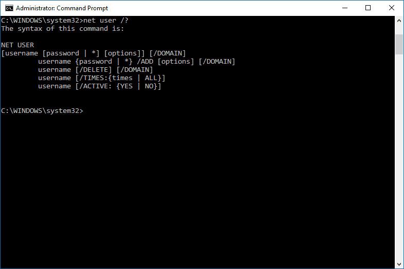 taper des commandes pour cracker le mot de passe du compte sous Windows