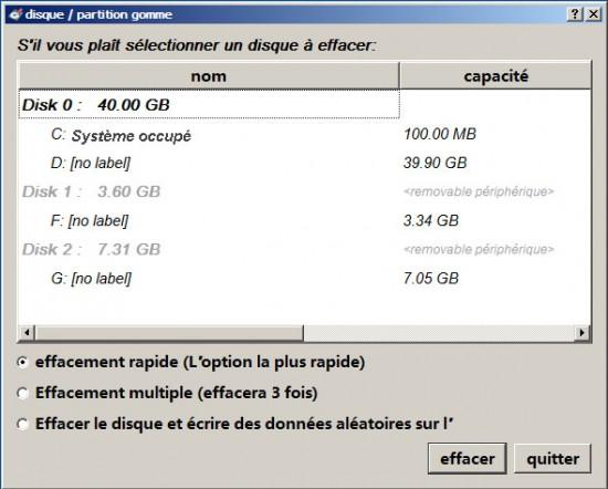 Formater le disque dur à fond - Renee PassNow