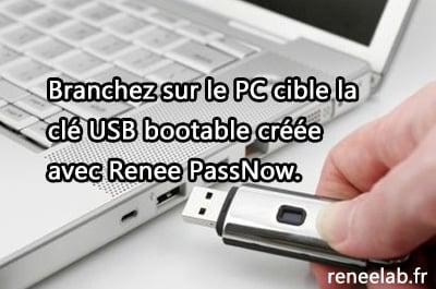 insérer une clé USB au PC
