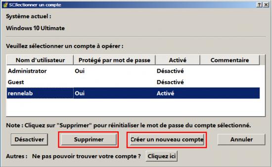 Réinitialiser ou supprimer le mot de passe de session sous Windows avec Renee PassNow