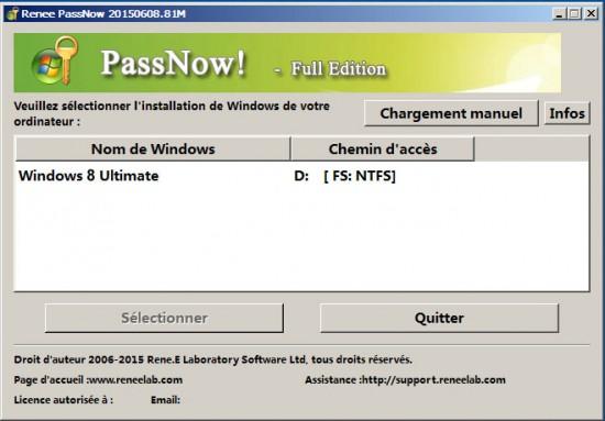 Logiciel de réinitialisation de mot de passe du compte Microsoft