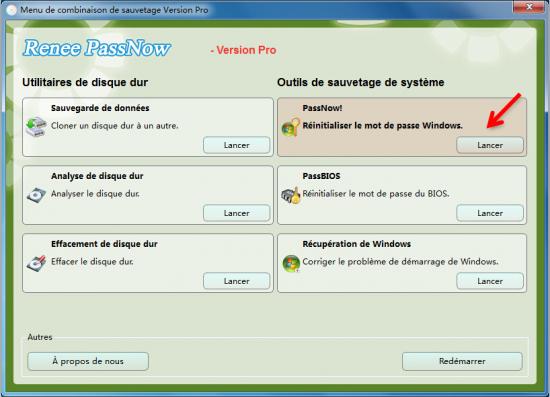 Renee PassNow-Logiciel de réintialisation de mot de passe