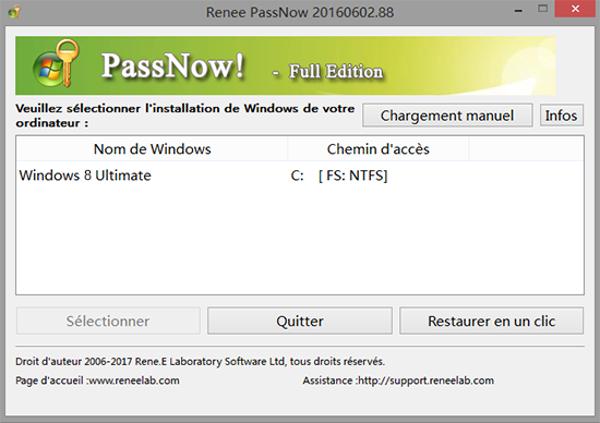 Réinitialiser le mot de passe Windows 8-Renee PassNow