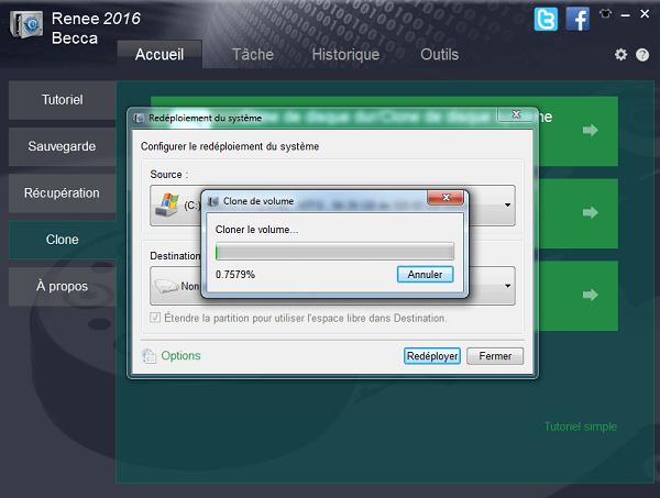 Transférer le système Windows avec Renee Becca