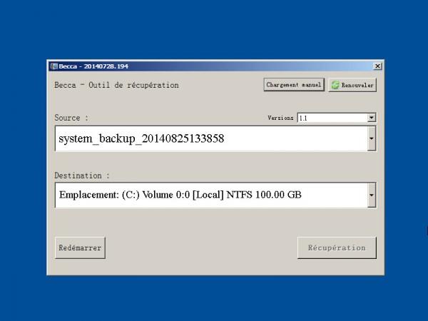 renee becca - system backup step 4