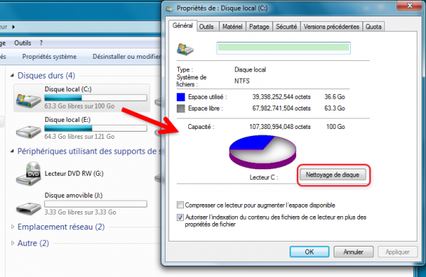 comment nettoyer son disque dur windows xp