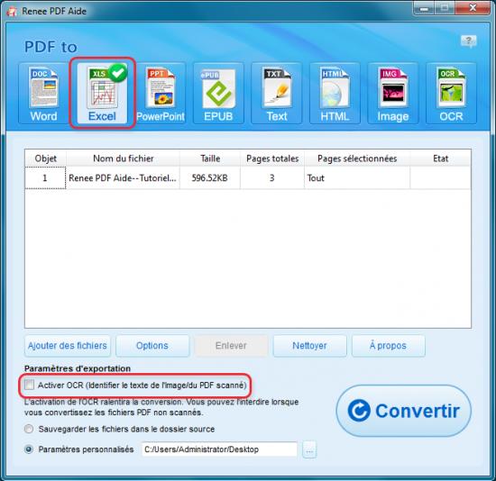 Comment convertir pdf en excel de fa on gratuite renee - Convertir fichier pdf en open office gratuit ...