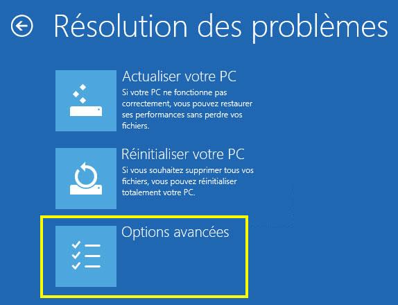 Options avancées windows 8 - Renee PassNow