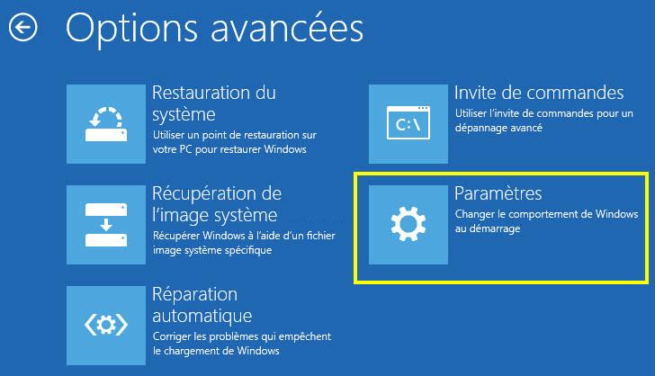 Paramètres des options avancées windows 8 - Renee PassNow