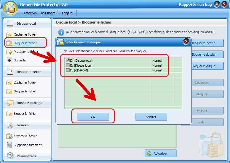 Bloquer le disque dur avec Renee File Protector