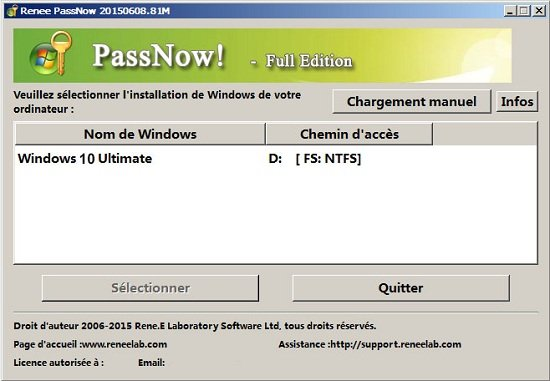 renee passnow-supprimer le mot de passe windows 10_1(550)