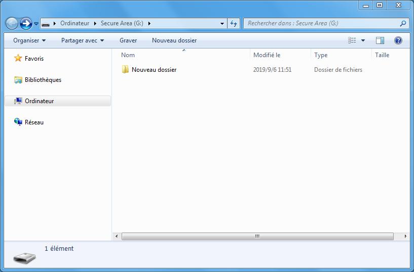 déplacer les dossiers dans le disque virtuel