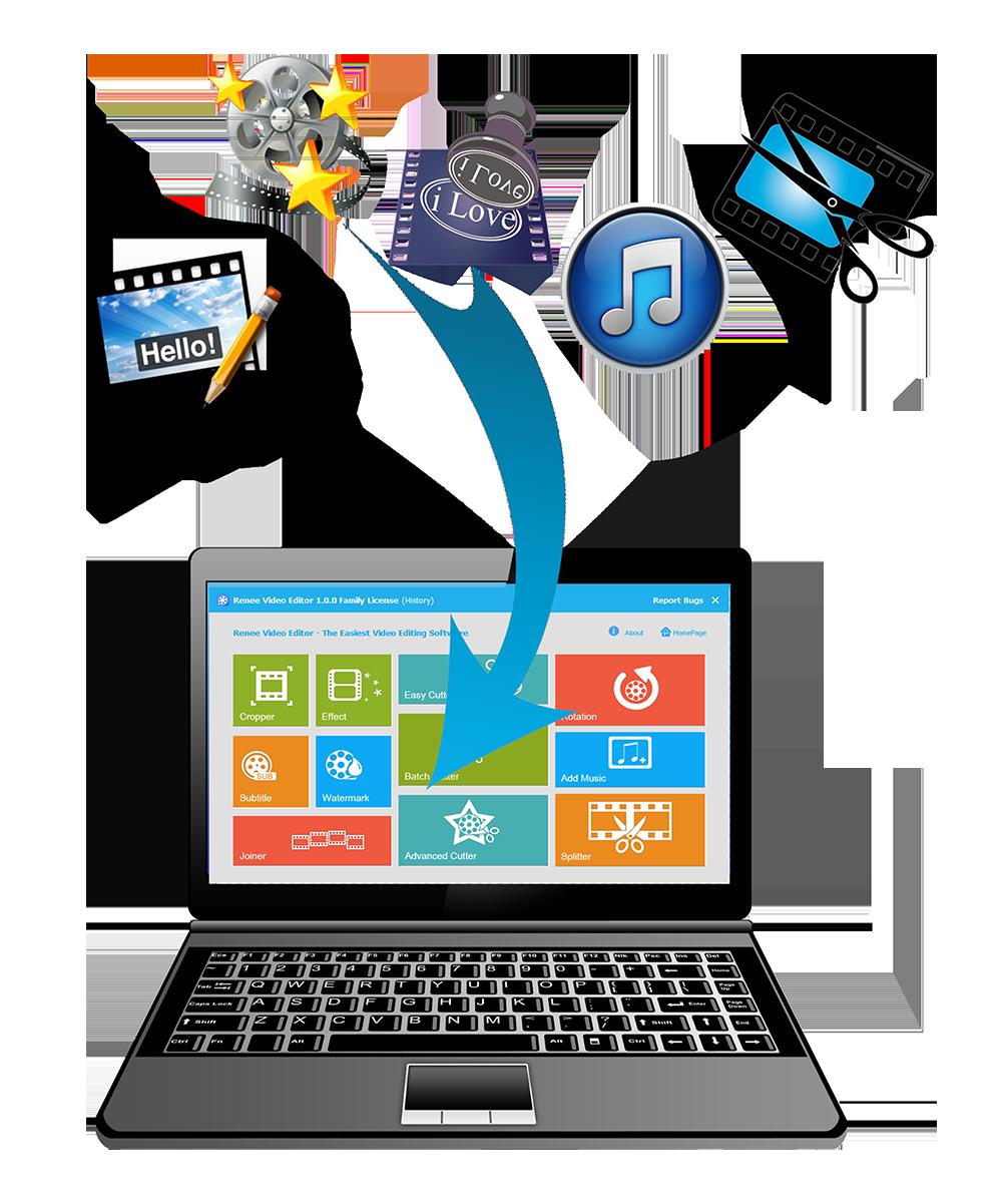 Renee Video Editor - logiciel de montage de video puissant