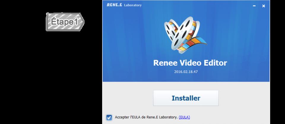 Installer Renee Video Editor