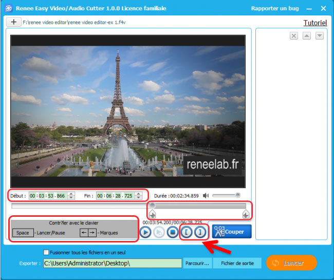 Couper une vidéo-Renee Video Editor