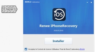 Installer Renee iPhone Recovery