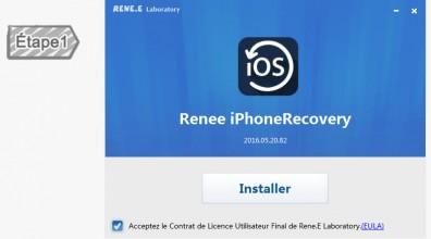 Installer Renee iPhone Recovery
