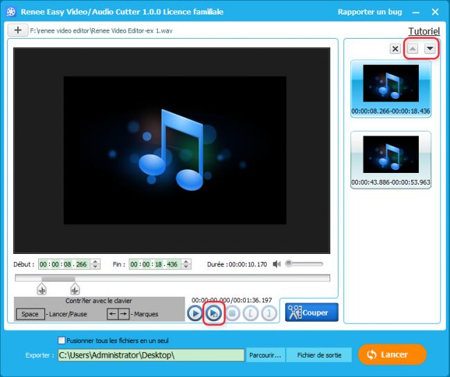 Couper une musique avec Renee Video Editor