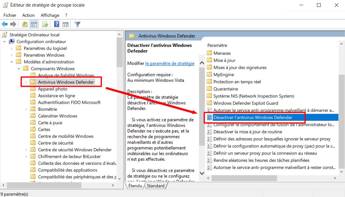 Comment Désactiver ou Activer Windows Defender à titre ...