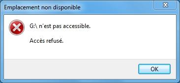 Refuser l'accès à la clé USB