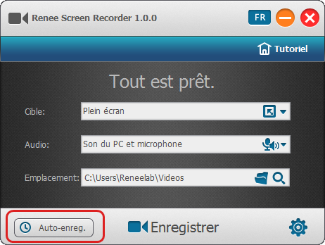 Lancer le programme Renee Screen Recorder