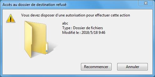 Refuser la modification sur la clé USB