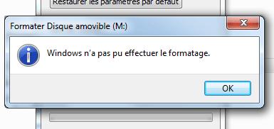 formatage carte sd impossible Impossible de formater la carte SD sous Windows, comment faire ?
