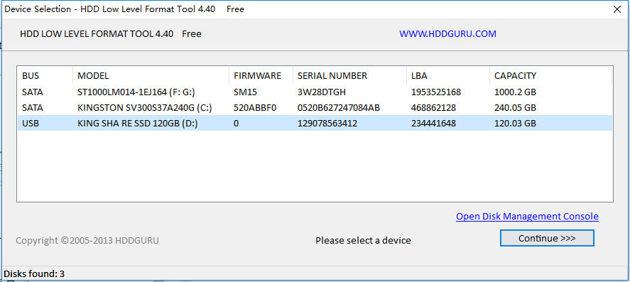 HDD LLF Low Level Format Tool
