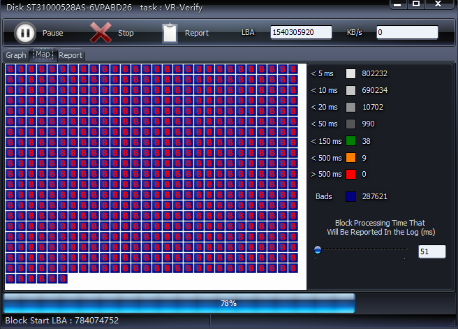 HDD Scan détecte des secteurs défectueux