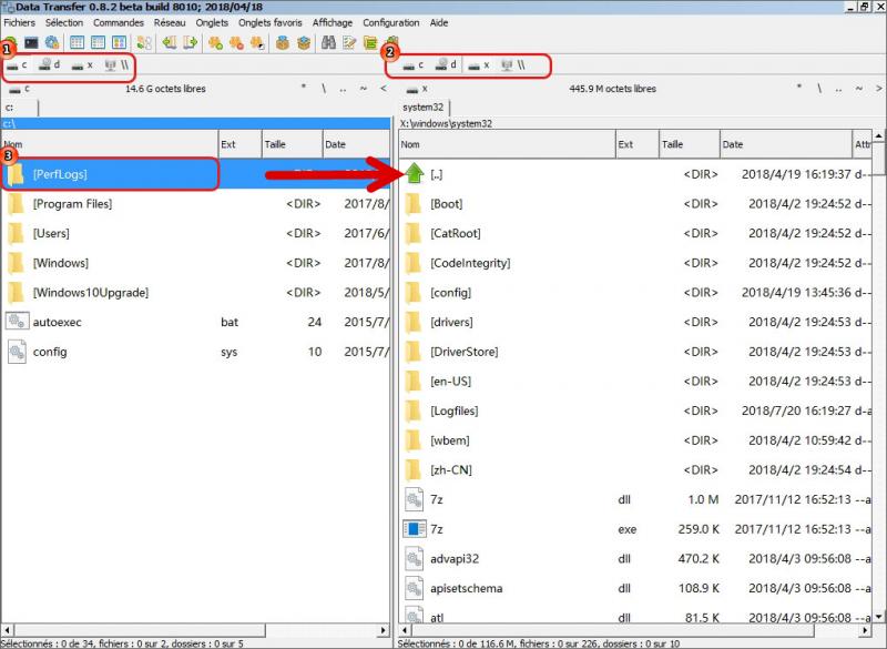 Transférer les fichiers dans le programme Renee PassNow