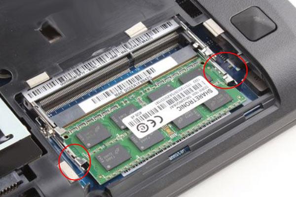 barrette mémoire du PC portable