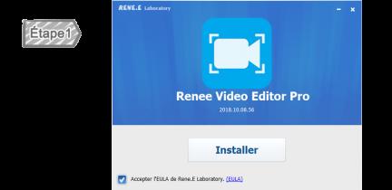 Installer Renee Video Editor Pro
