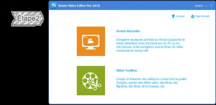 Sélectionner la fonction de Renee Video Editor Pro