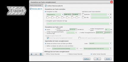 Définir les paramètres pour l'enregistrement automatique