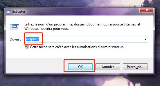 invite de commande de configurer la connexion automatique Win10