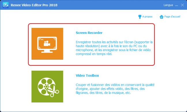 video editor pro - fonction d'enregistrement écran 1