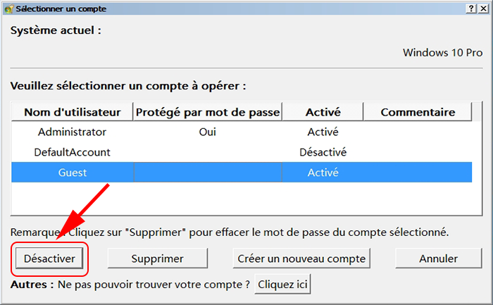 solution  comment activer le compte invit u00e9 sous windows