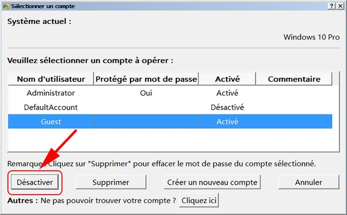 solution  comment activer le compte invit u00e9 sous windows