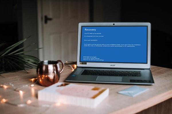 écran bleu de récupération sous Windows 10