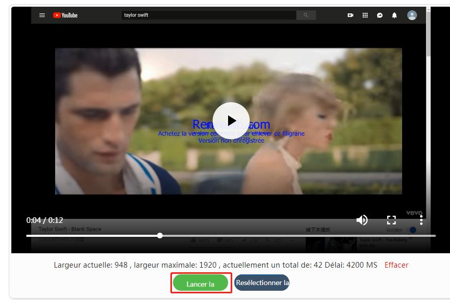lancer la conversion de vidéo à GIF