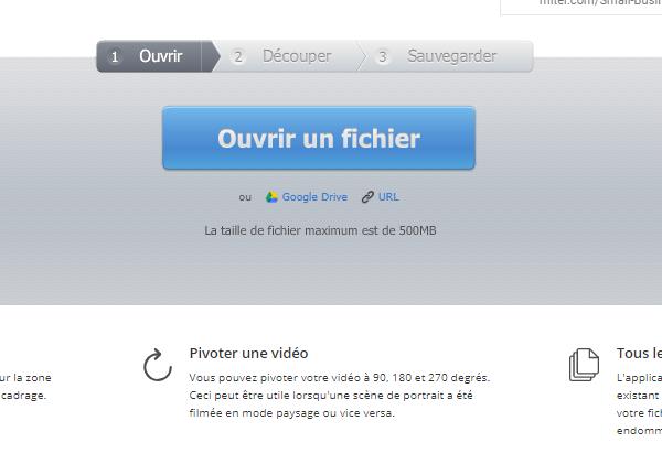 ouvrir un fichier vidéo par online video cutter