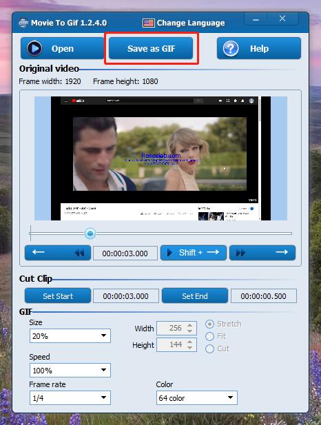 enregistrer sous GIF