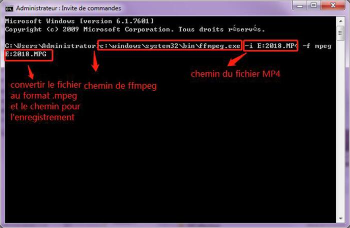 convertir de MP4 au MPEG