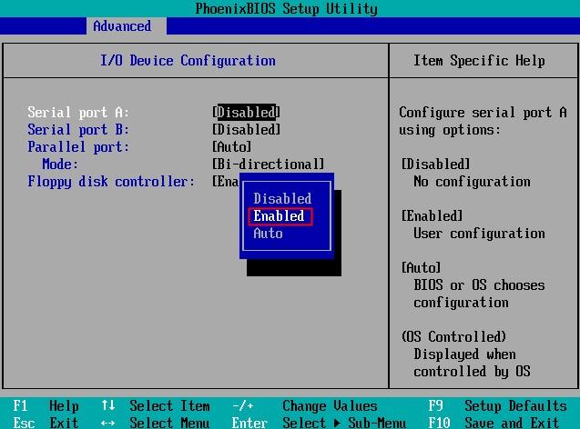 Modifier les paramètres du BIOS