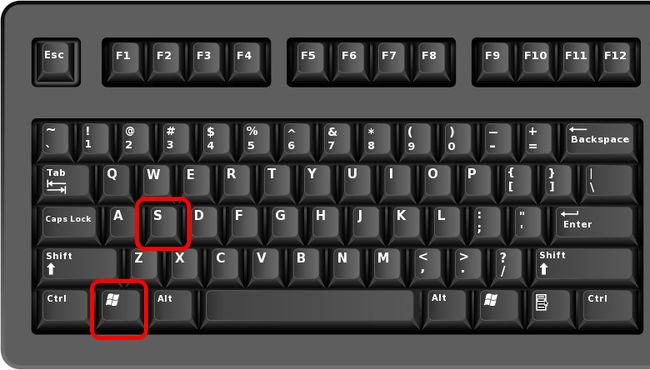 touches Windows et S
