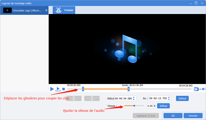 couper le clip audio